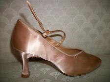 "Ballroom Dance Shoe Capezio Asymmetric Courtney BR75AS Champagne Satin 2.75"" NIB"