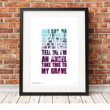 MY CHEMICAL ROMANCE ❤ Gerard Way ❤ MCR lyrics poster art print in 5 sizes #9