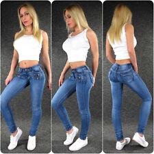 Zazou Hüftjeans Damenjeans XS S M L XL Skinny Stretch Low Waist Hüft Jeans 817C