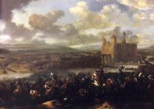 Jan van Huchtenburgh: Battle of Khotyn in 1673. Fine Art Print/Poster