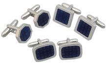 Italian Sterling Silver Lapis Lazuli Cufflinks
