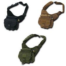 RapDom EDC MOLLE Shoulder Tactical Field Messenger Work Bag Camping Gear Hiking