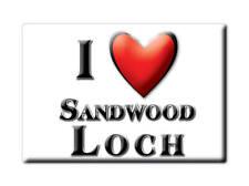 SOUVENIR UK - SCOTLAND MAGNET UNITED KINGDOM I LOVE SANDWOOD LOCH (HIGHLAND)