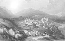 SPAIN, PLACENGIA ~ DAVID ROBERTS Antique 1838 Art Print