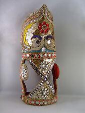 RARE !  ANCIENNE TETIERE CHEVAL MARWARI, parure, briderie, perles, Inde