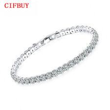 Gorgeous Cubic Zirconia Tennis Bracelet Women 3 Color Bridesmaid Wedding Jewelry