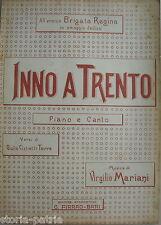 MUSICA_IRREDENTISMO_INNO A TRENTO_CISTIETTI TORRE_MARIANI_BRIGATA REGINA_BARI