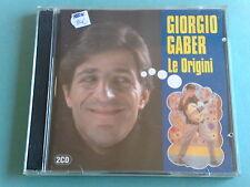 GIORGIO GABER - LE ORIGINI- RARISSIMO DOPPIO CD FUORI CATALOGO COME NUOVO (MINT)