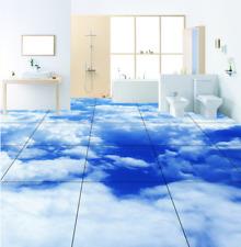 3D cielo nube scenario Pavimento Foto Wallpaper Murales Muro Stampa Decalcomania