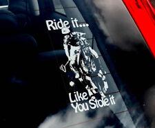 Ride it like you stole it! - Polocrosse Car Window Sticker Equestrian Decal -V05