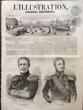 L'ILLUSTRATION 1853 N 558 LE PRINCE MENTCHIKOFF ET LE MARECHAL PASKEWITCH
