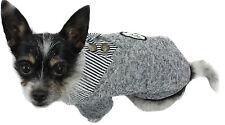 Hundejacke Hund Mantel  S M L XL XXL Pullover Grau Winter warm Strick