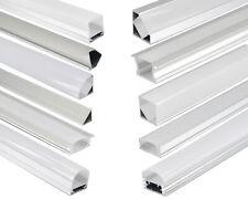 LED Aluprofil Aluminium Profile en Rail Couverture Baguette pour Bandes