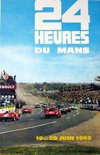 Vintage 1965 Le Mans 24 Hour Race Motor Racing  Poster A3 Print
