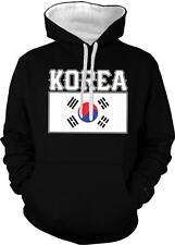 Republic of Korea Text Flag Taegeukgi Korean Pride 2-tone Hoodie Pullover