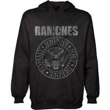 Official Ramones - Presidential Seal  -  Men's Black Pullover Hoodie