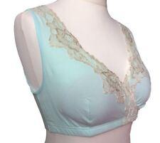 Breastfeeding Nursing vest /sleeping bra Mint /Grey/Yellow,UK size 8-16