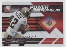 2011 Donruss Elite Power Formulas Red 17 Marques Colston New Orleans Saints Card
