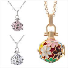 Enamel Flower Design Aromatherapy Essential Oil Diffuser Locket Pendant Necklace