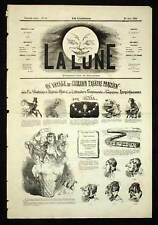 André Gill VOYAGE AU GRAND THEATRE PARISIEN La Lune 1866