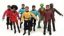 """1974 STAR TREK 8"""" mego figure - Kirk McCoy Romulan Spock Talos Uhura - HEAD BODY"""