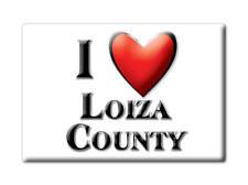 SOUVENIR USA -  BRAND NEW GIFT FRIDGE MAGNET AMERICA I LOVE LOIZA COUNTY