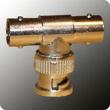 BNC T-Stück - 2 x w + 1 x m - Buchse + Stecker - Adapter - 5 oder 10 Stück