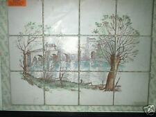 Antique ceramic mosaic mural