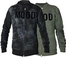 Felpa uomo MOOD couture con apertura zip giacca giubbino casual cardigan  6740