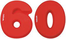Gran número 60 Cake Tin Molde 60º cumpleaños Diamante Boda Aniversario Regalo