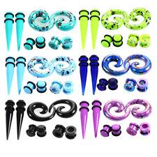 1 Set Gauge Acrylic Stretcher Spike Ear Taper Earplug Expanders Stud Earring