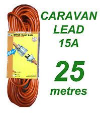 Caravan Lead 15A 25 metres Heavy Duty Power Cord