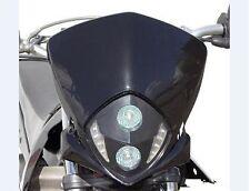 Tete de fourche plaque phare Master NOIR Moto Cross Enduro Dirt 2 x 20 W + LED