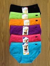 12 x Mix Colours Womens / Ladies Cotton Fashion Underwear Undies Briefs - LB093