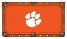 Clemson Tigers HBS Orange with White Logo Billiard Pool Table Cloth