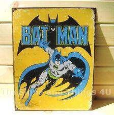 Retro Batman TIN SIGN vtg metal poster dc comics book superhero wall decor 1357