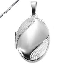 Medaillon oval 925 Silber Amulett mit Kette oder Gravur wählbar zB Sternzeichen