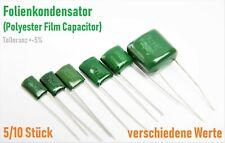 Folienkondensator Polyester Film Capacitor Verschiedene Werte Sortiment pF nF uF