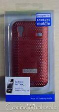 Progettato per Samsung Galaxy Ace rosso VENTILATO caso parte. samaceccrd-NUOVO