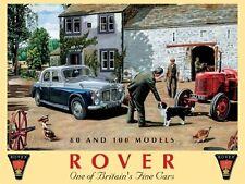 Rover 80 & 100 Models Classic/Vintage Car & Tractor, Farm Small Metal/Tin Sign