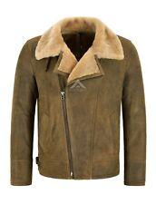 Men's B3 Sheepskin Jacket RAF Cross Zip Antique Real Shearling Fur Jacket NV-49