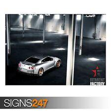 FITMENT FACTORY NISSAN GT-R (AB114) CAR POSTER - Poster Print Art A0 A1 A2 A3