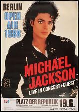 0569 Vintage Music Poster Art - Michael Jackson Berlin 1988