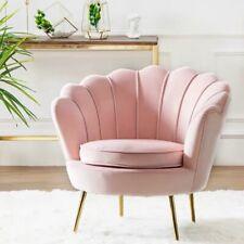 Modern design luxury single double shell shape sofa armchair fabric lounge