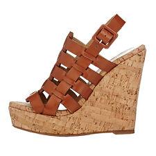 MERUMOTE Summer Women's Weaving Straps Wedge Heel Buckle Beach Shoes Sandals SZ