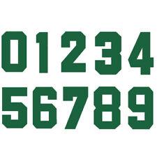 Iron-On Heatpress Green Number Football Baseball Clothes Sports T-Shirt DIY Part