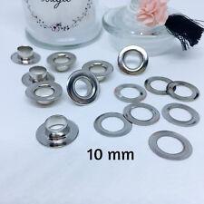 Œillet argenté Lot de 30 - diamètre 5 mm, 8 mm ou 10 mm oeillet
