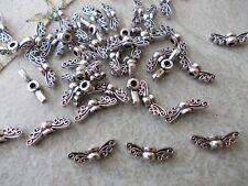 ANGEL FAIRY WINGS, SILVER OR GOLD TIBETAN METAL CHARMS/PENDANTS/BEADS, CHRISTMAS