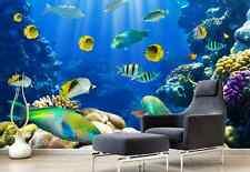 3D Korallenriff, Fisch 4367 Fototapeten Wandbild Fototapete BildTapete Familie