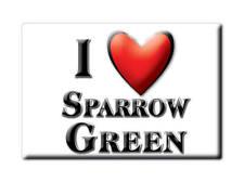 SOUVENIR UK - ENGLAND MAGNET UNITED KINGDOM I LOVE SPARROW GREEN (NORFOLK)